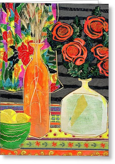 Lemon Squash And Pumpkin Greeting Card by Diane Fine