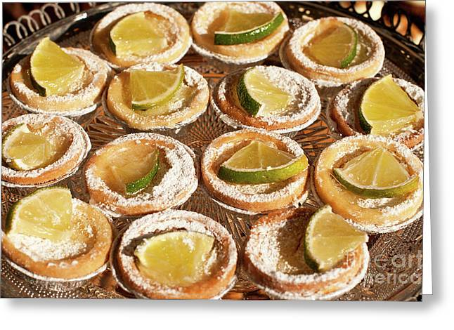 Lemon Tarts Greeting Card by Rick Piper Photography