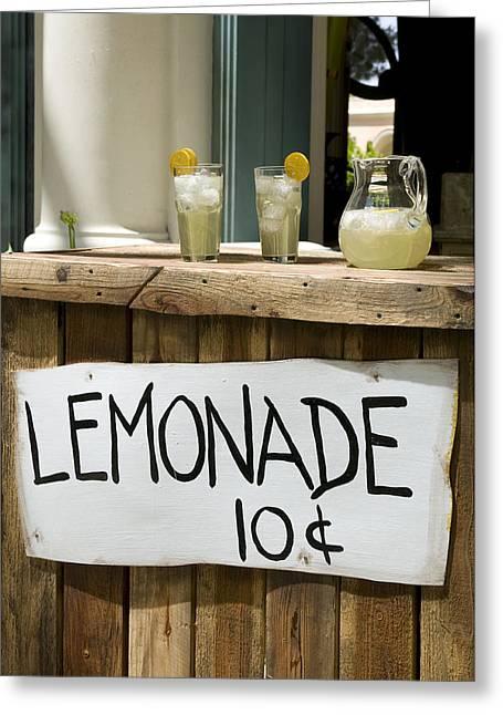 Lemonade Stand Greeting Card