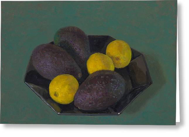 Lemons And Avocados Greeting Card by Ben Rikken