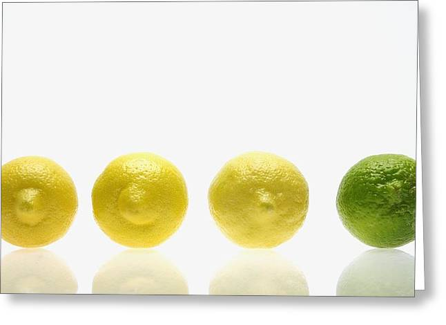 Lemons And Lime Greeting Card by Kelly Redinger