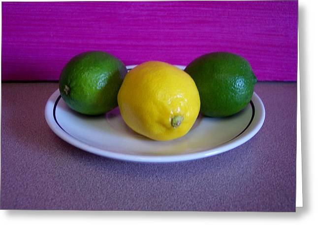 Lemons And Limes Greeting Card by Melvin Turner