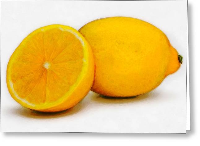 Lemons Greeting Card by David Blank