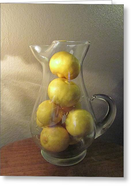 Lemons In Waiting Greeting Card