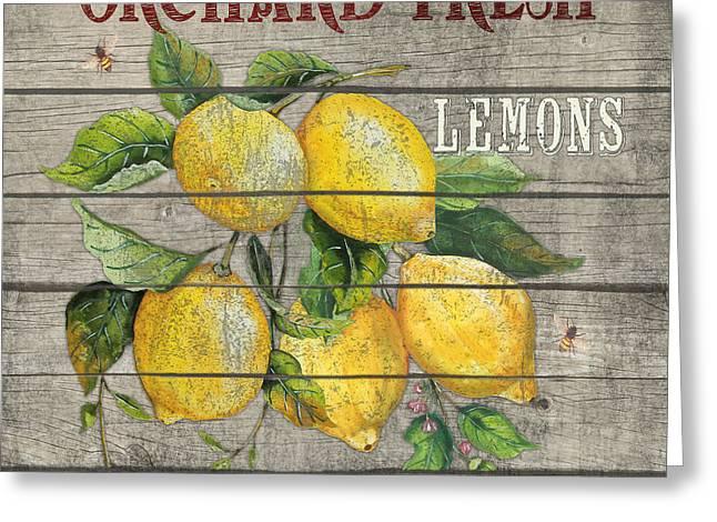 Lemons-jp2679 Greeting Card by Jean Plout