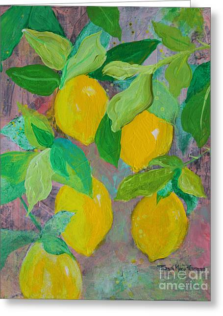 Lemons On Lemon Tree Greeting Card