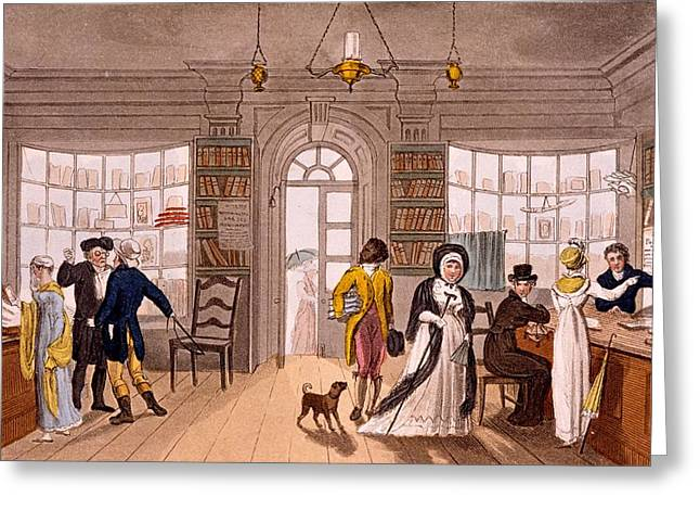 Lending Library, 1813 Greeting Card by James Green