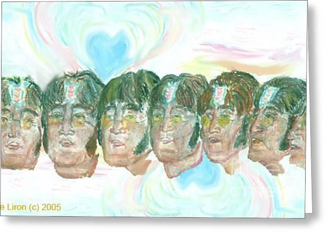 Lennon 1967 Greeting Card by Moshe Liron