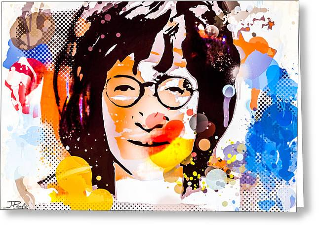 Lennon Colorful Tribute I Greeting Card by Joseph Paulino