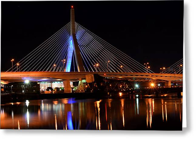 Lenny Zakim Bridge Boston Ma Greeting Card by Toby McGuire