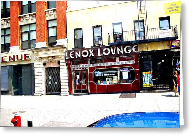 Lenox Lounge Harlem 2005 Greeting Card by Cleaster Cotton