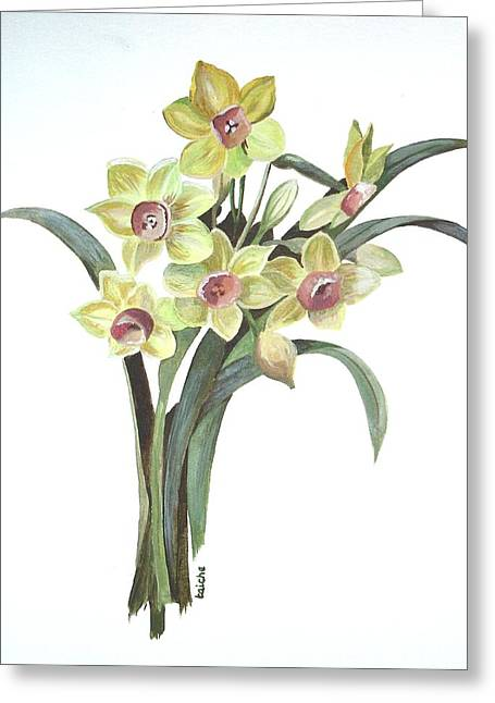 Lent Lily Greeting Card by Tracey Harrington-Simpson