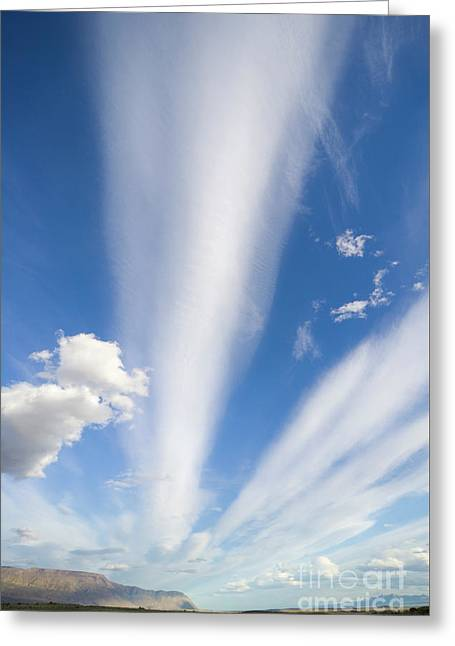 Lenticular And Cumulus Clouds Patagonia Greeting Card by Yva Momatiuk and John Eastcott