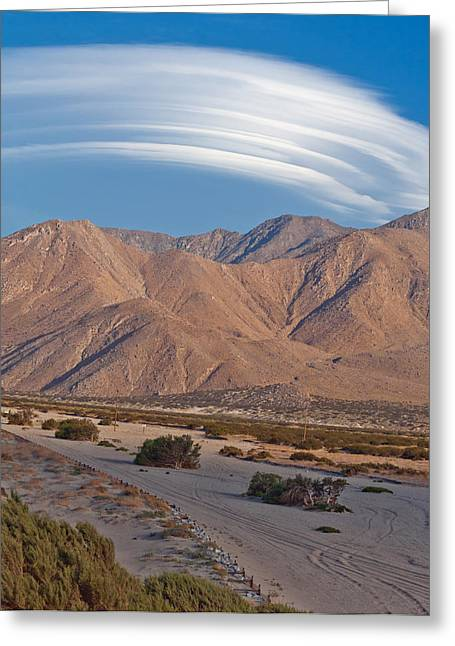 Lenticular Cloud Over Palm Springs Greeting Card