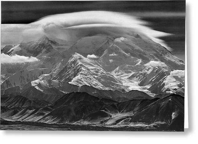 101366-lenticular Cloudcap Over Mt. Mckinley Greeting Card
