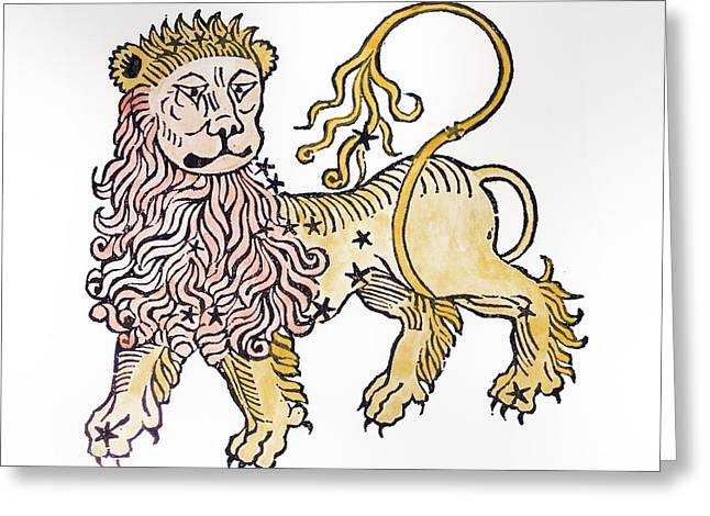 Leo An Illustration From The Poeticon Greeting Card by Italian School