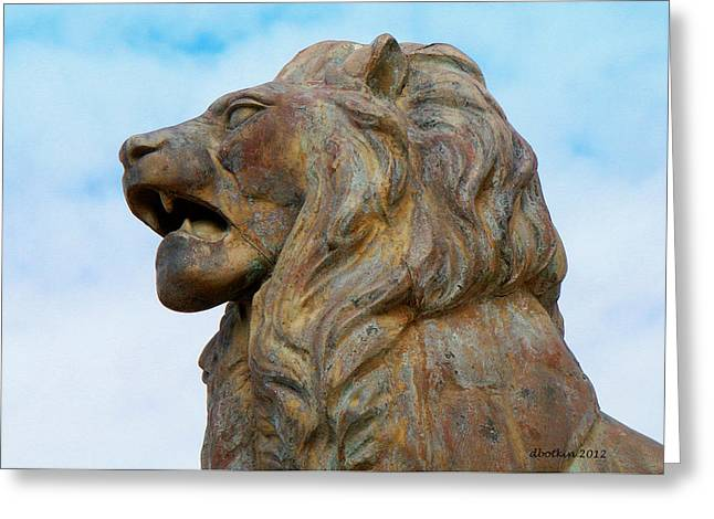 Greeting Card featuring the photograph LEO by Dick Botkin
