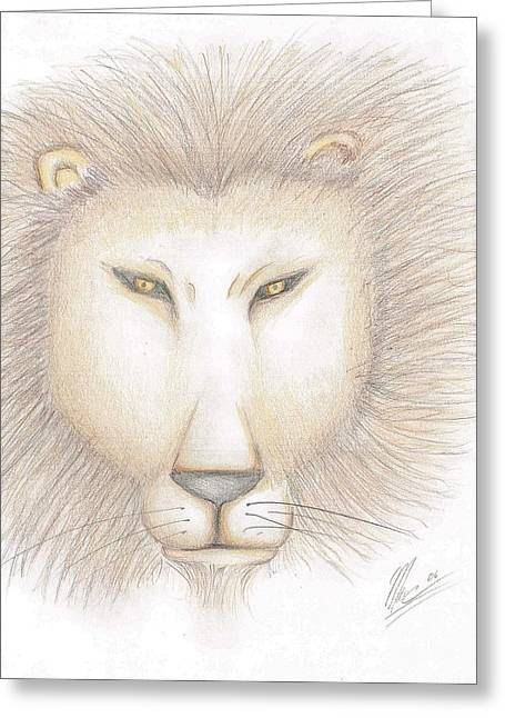 Leo Greeting Card by Marc Chambers