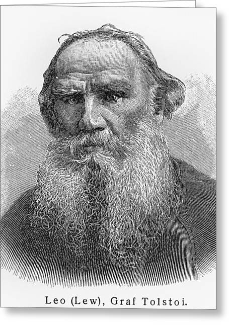 Leo Nikolayevich Tolstoy Greeting Card by Oprea Nicolae