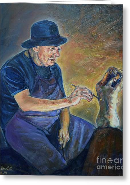 Figurative Painting Greeting Card