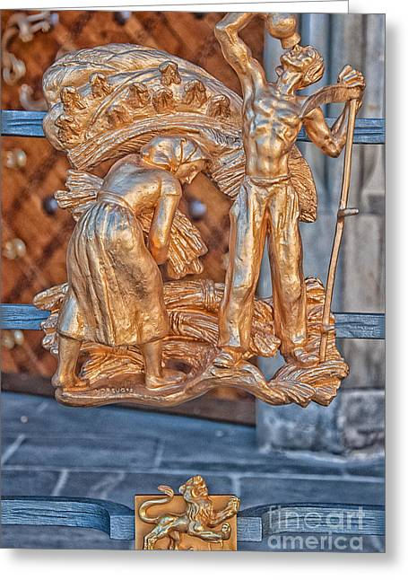 Leo Zodiac Sign - St Vitus Cathedral - Prague Greeting Card by Ian Monk