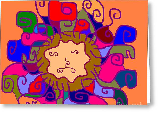Leo1 Greeting Card by Meenal C
