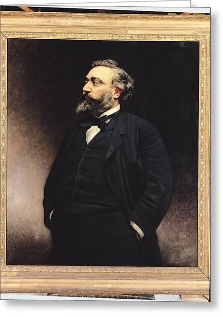 Leon Gambetta 1838-82 Oil On Canvas Greeting Card