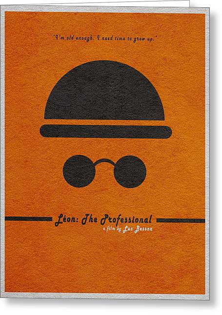 Leon The Professional Greeting Card by Ayse Deniz