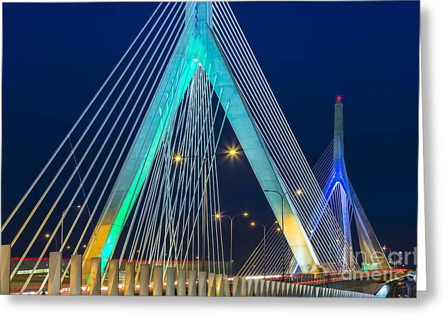 Leonard P. Zakim Bunker Hill Memorial Bridge Greeting Card