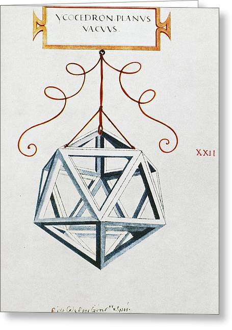 Leonardo Icosahedron Greeting Card