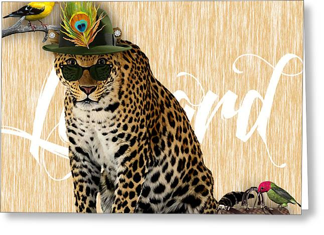 Leopard Collection Greeting Card by Marvin Blaine