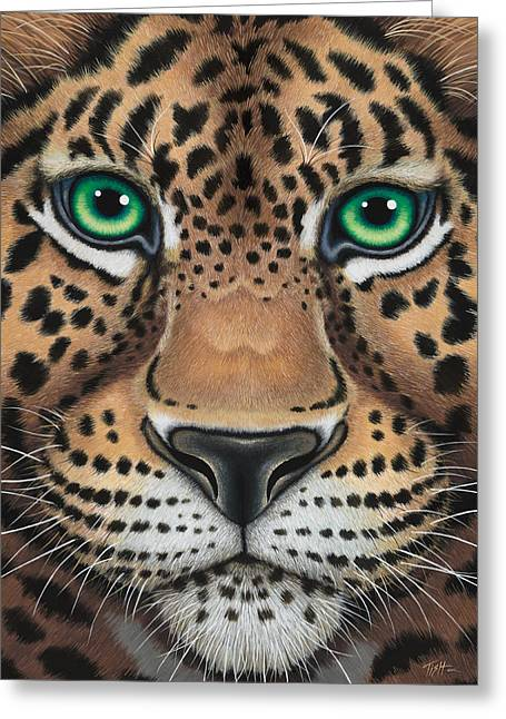Wild Eyes Leopard Face Greeting Card