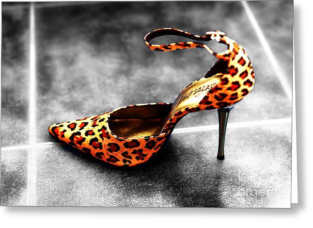 Leopard Fusion Greeting Card by John Rizzuto