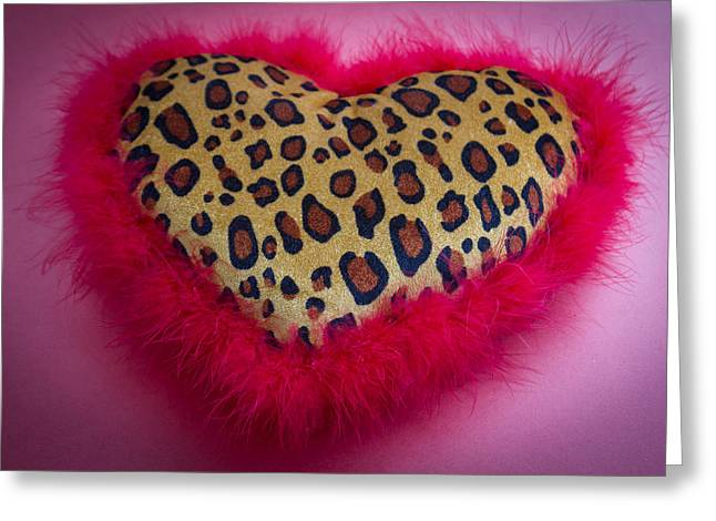 Greeting Card featuring the photograph Leopard Heart by Patrice Zinck
