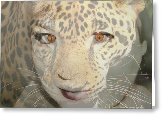 Leopard Lady Greeting Card by Mindy Bench