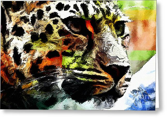 Leopard - Leopardo Greeting Card by Zedi