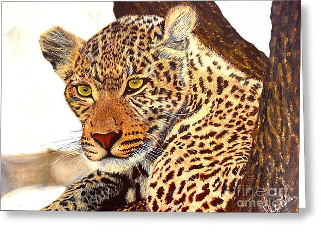 Leopard Point Of View Greeting Card