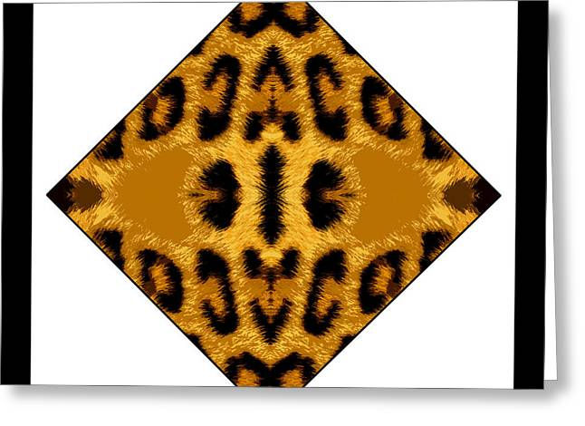 Leopard Skin Greeting Card by Roberto Alamino