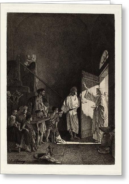 Leopold Flameng After Alexandre Bida, The New Testament Greeting Card
