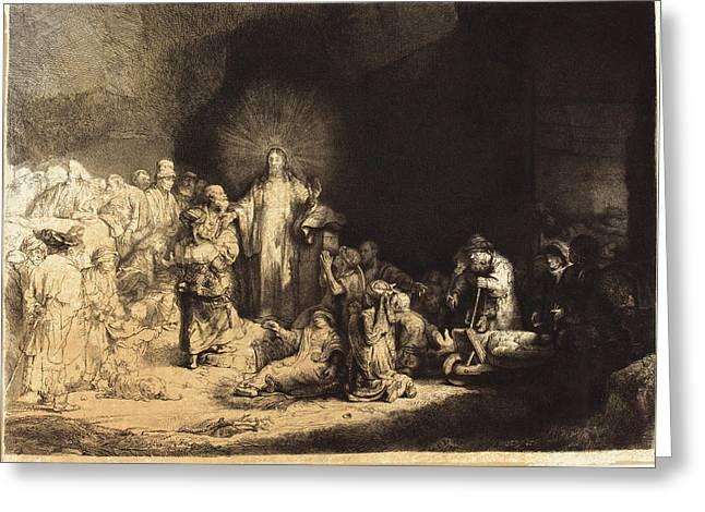 Leopold Flameng After Rembrandt Van Rijn Greeting Card