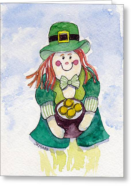 Leprechaun Lassie Greeting Card