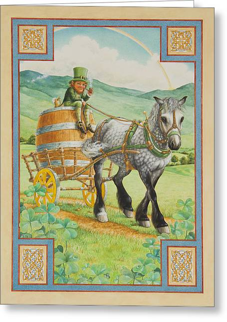 Leprechaun Greeting Card by Lynn Bywaters