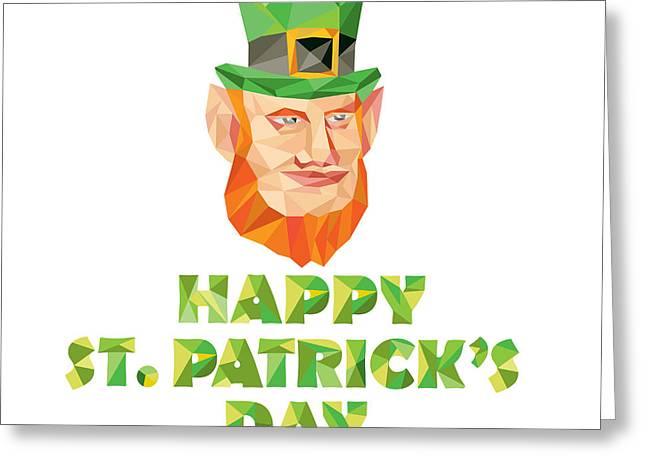 Leprechaun St Patrick's Day Low Polygon Greeting Card