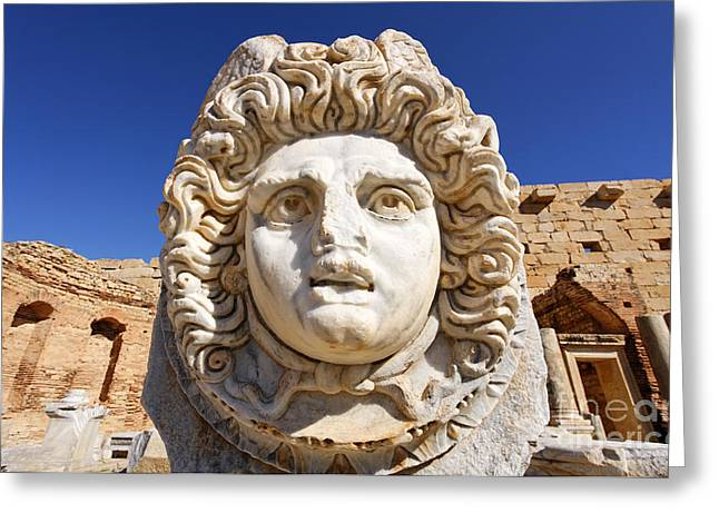 Leptis Magna Greeting Card by Robert Preston