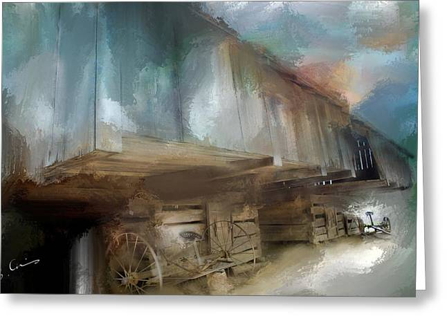 Lequire Cantilever Barn Greeting Card by Evie Carrier