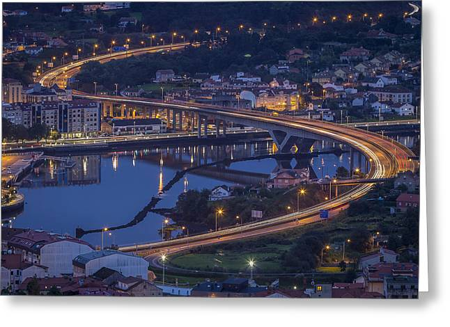 Greeting Card featuring the photograph Lerez River Pontevedra Galicia Spain by Pablo Avanzini