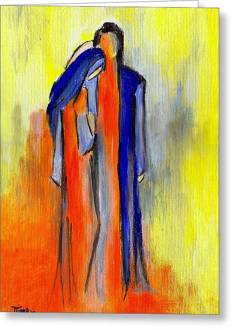 Les Amoureux Greeting Card by Mirko Gallery
