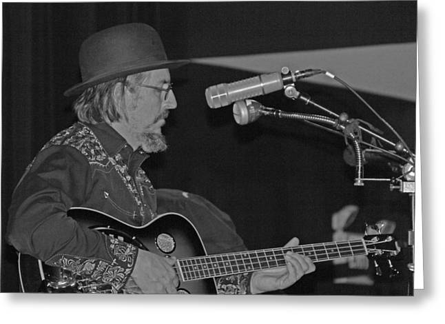 Les Claypool At Terminal West Greeting Card by Greg Brown