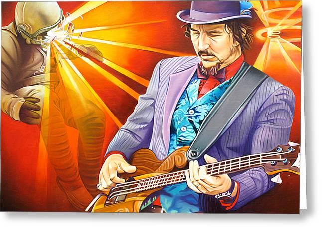 Les Claypool's-sonic Boom Greeting Card by Joshua Morton