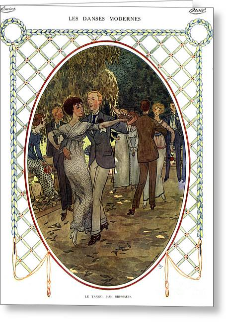 Les Dances Modernes  France Cc Tango Greeting Card by The Advertising Archives
